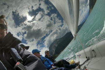 Biken und segeln am Reschensee